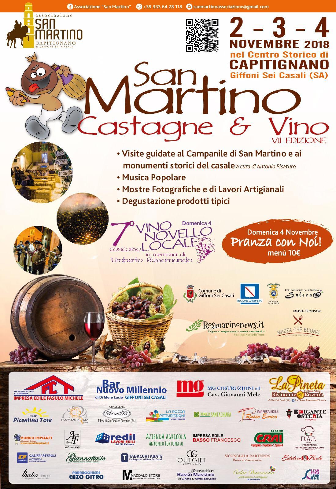 SAN MARTINO CASTAGNE & VINO 2-3-4 NOVEMBRE 2018