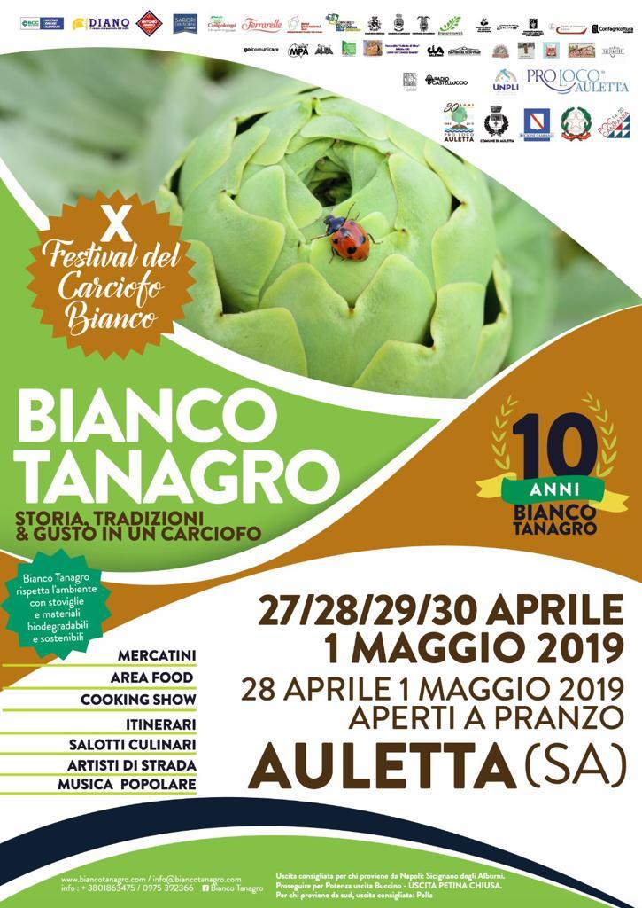 """""""BIANCO TANAGRO"""" Il Festival Del Carciofo Bianco  Ad Auletta Dal 27 Aprile Al 1 Maggio"""
